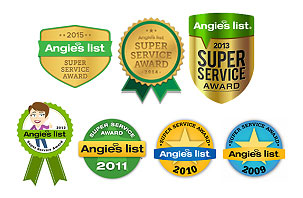On-Site-Techs have won seven Angie's List Super Service Awards